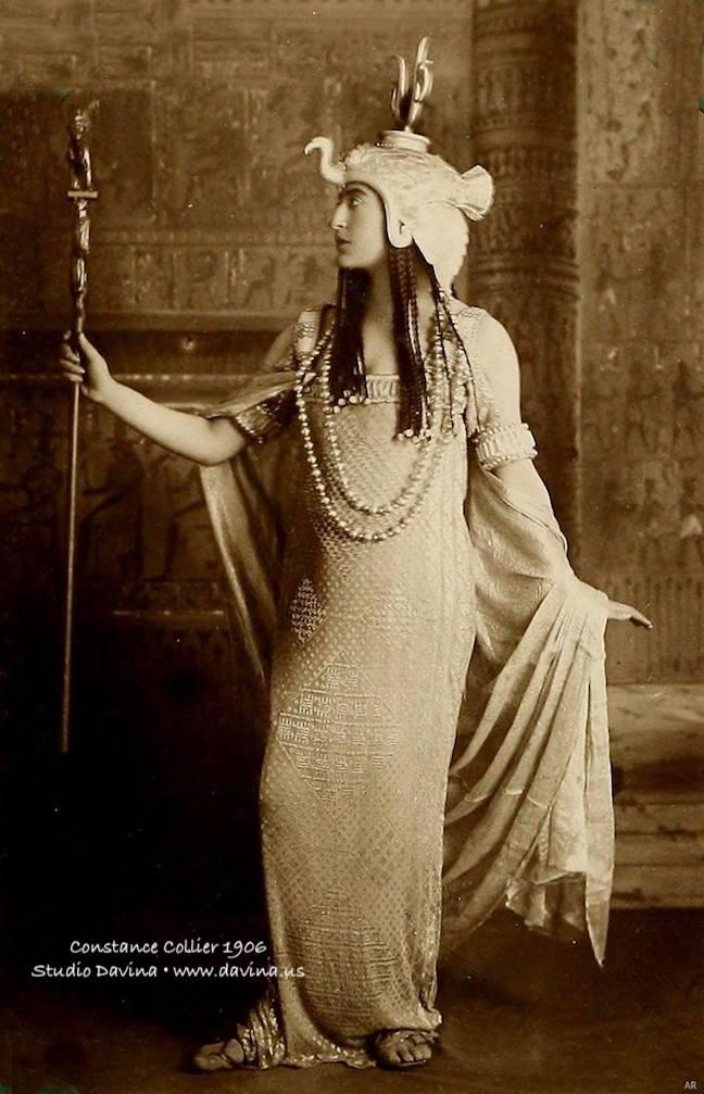 Opera singer Constance Collier as Cleopatra 1906 | Studio Davina • www.davina.us