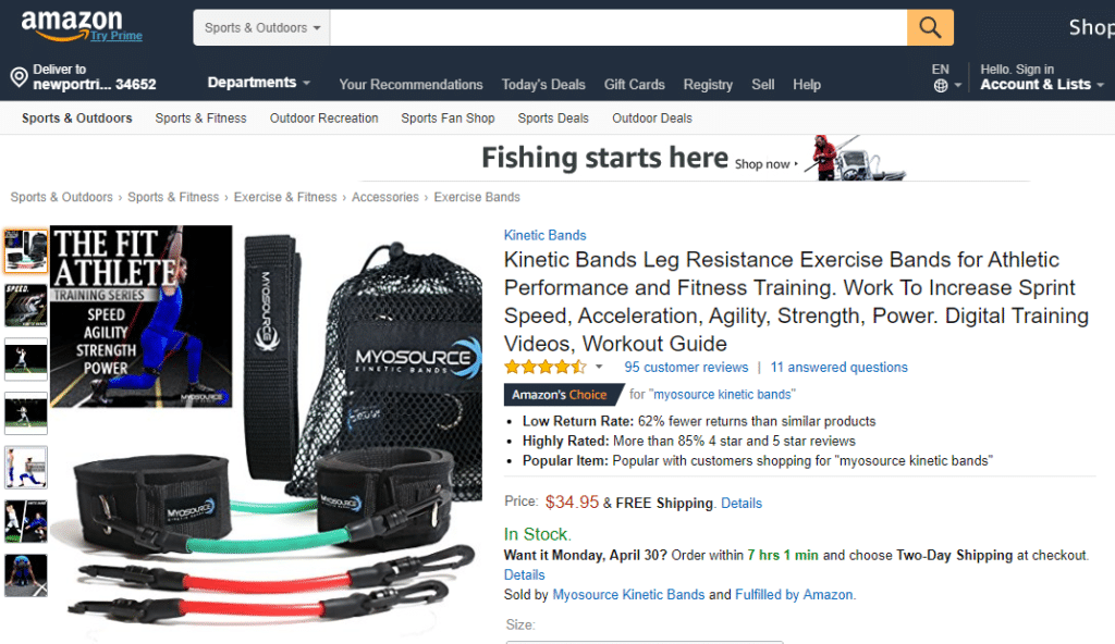 Myosource Speed bands amazon