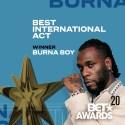 Burna Boy Wins BET 2020