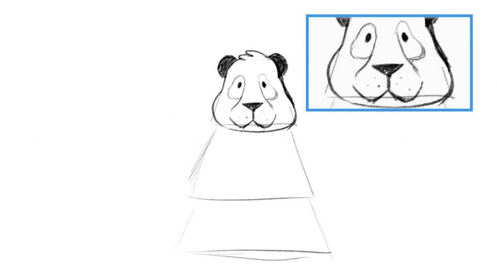 Step by step panda drawing lesson