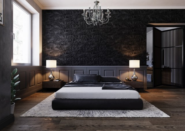 HOME DESIGNING: 51 Beautiful Black Bedrooms With Images ...