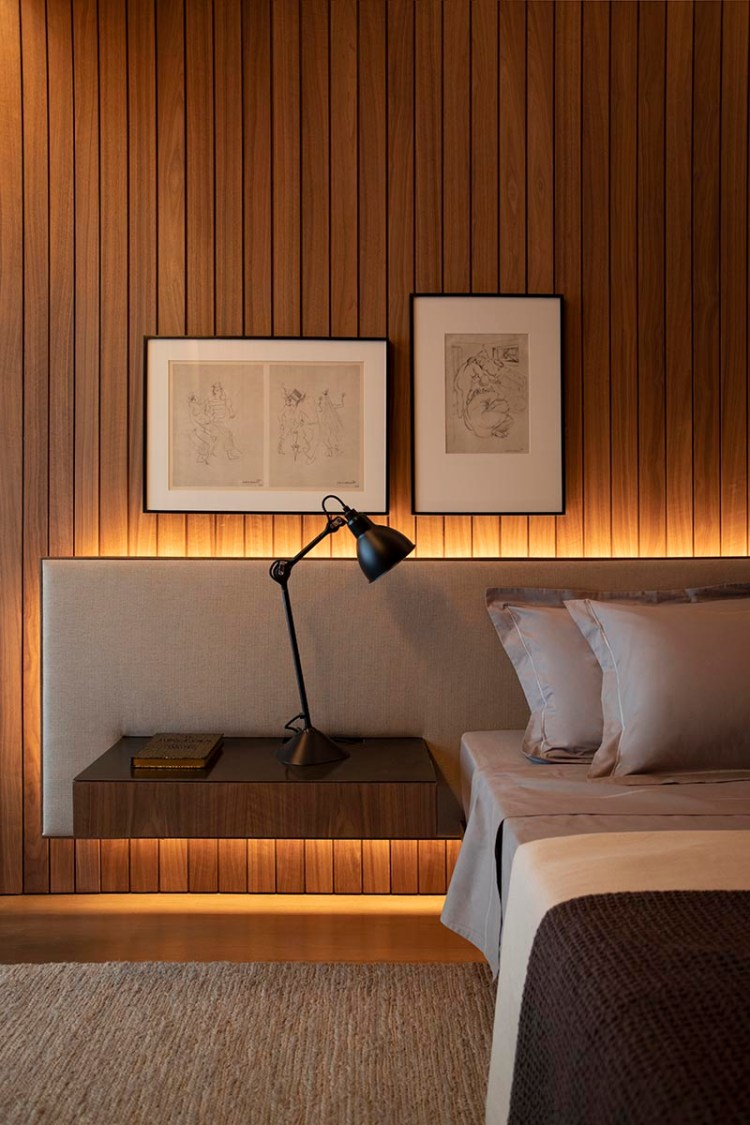 Contemporist Bedroom Design Idea An Extra Wide Headboard With Floating Bedside Tables Contemporary Designers Furniture Da Vinci Lifestyle