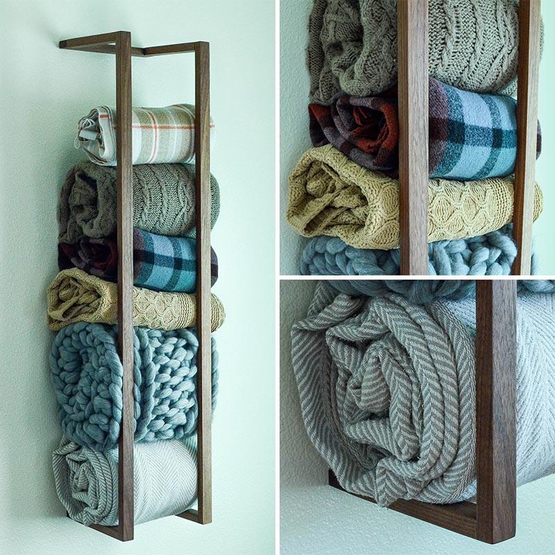 contemporist 10 blanket storage ideas