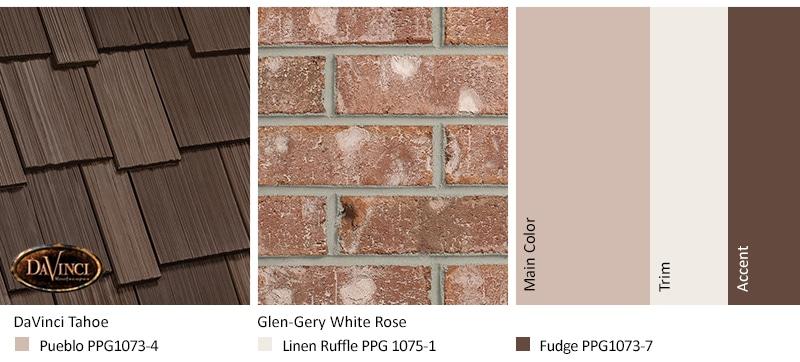 Pink Brick Exterior Color Schemes Davinci Roofscapes