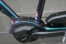 Shimano Steps E8000 mid-drive electric motor. Electric Assist Tandem bicycle, w/ independent coasting.