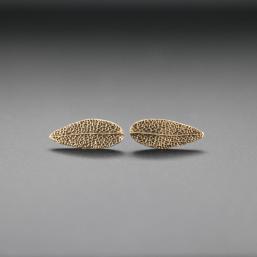 DaVine Jewelry, Bronze Sage Leaf Stud Earrings