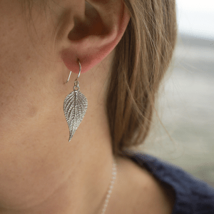 DaVine Jewelry, Sterling Silver Pineapple Sage Leaf Earrings