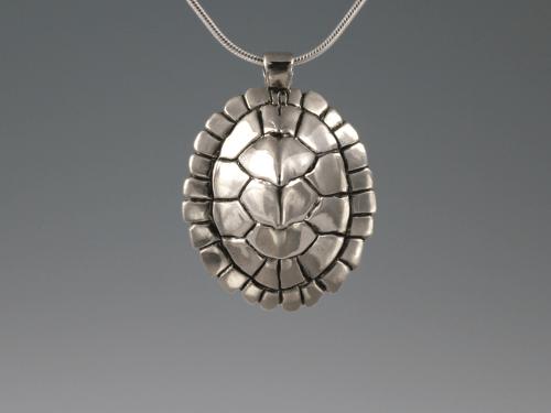 DaVine Jewelry, Custom Map Turtle Shell Pendant Sterling Silver