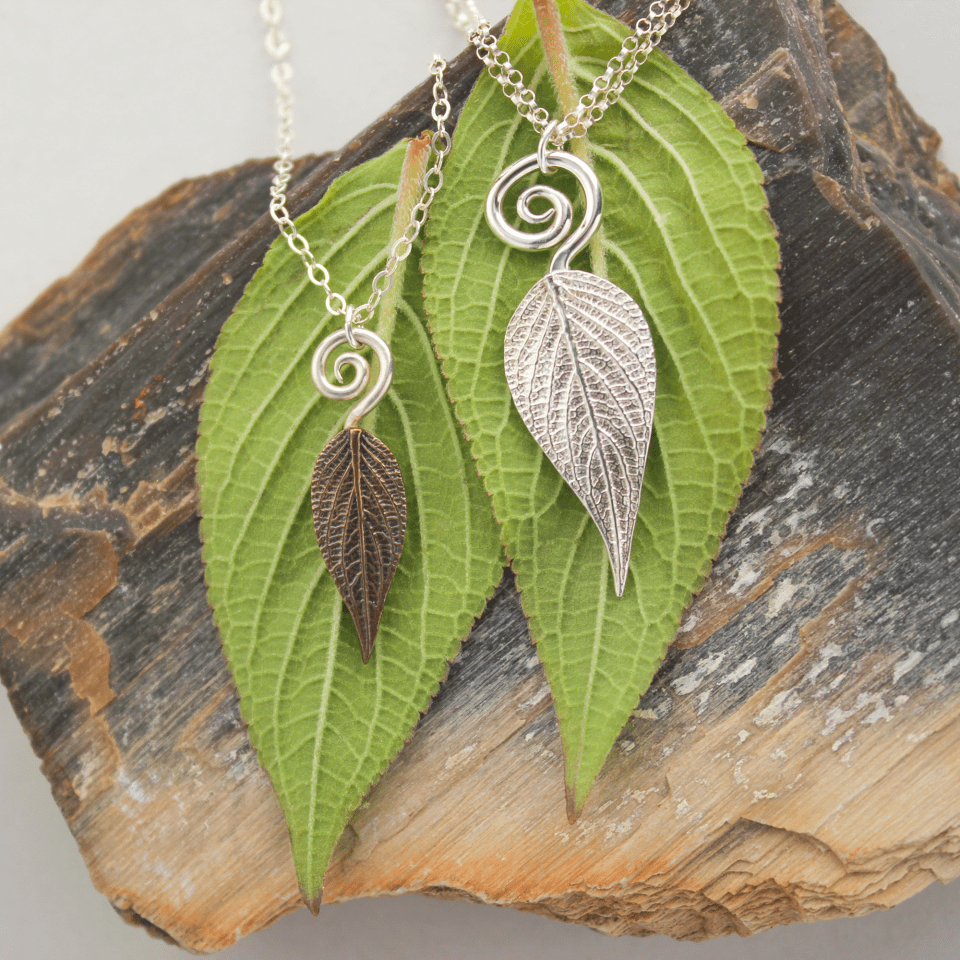 DaVine Jewelry, Pineapple Sage Leaf and Spiral Necklaces