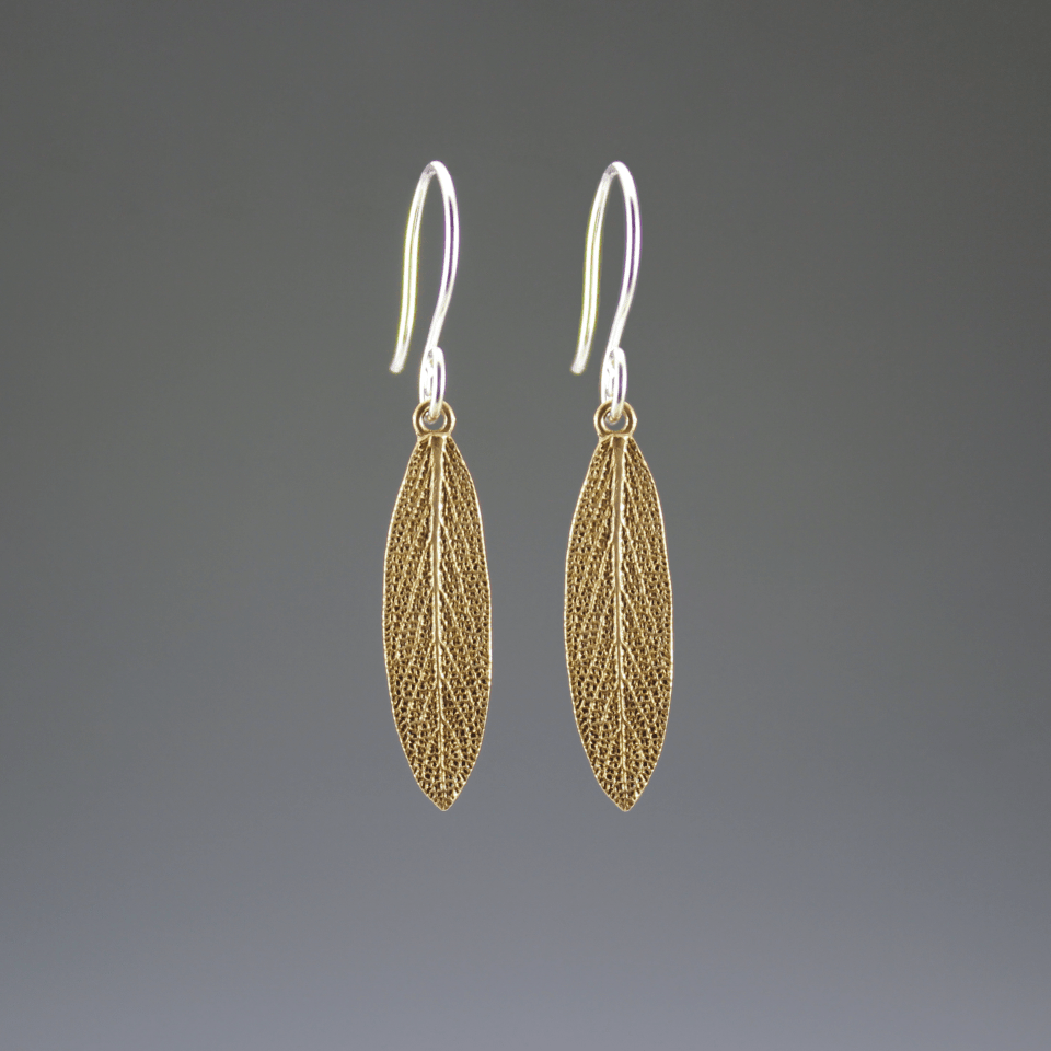 DaVine Jewelry, Bronze Garden Sage Leaf Dangle Earrings
