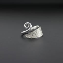 DaVine Jewelry, Sterling Silver Sage Leaf with Spiral Ring