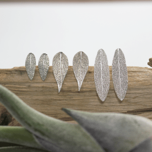 DaVine Jewelry, Sage Leaf Stud Earrings Sterling Silver