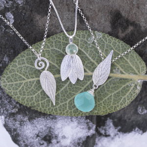 DaVine Jewelry, Sterling Silver Sage Leaves Necklaces
