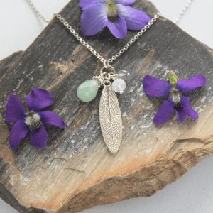 DaVine Jewelry, Garden Sage Leaf Aventurine Charmy Pendant