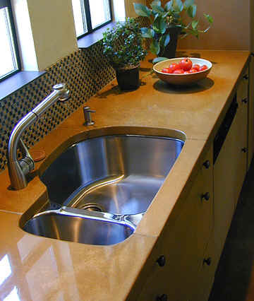 concrete kitchen sink wall cabinet doors countertops and sinks created using davis colors this precast colored countertop was made by flying turtle cast www
