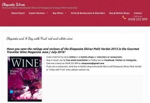 Eloquesta Wines website, January 2017