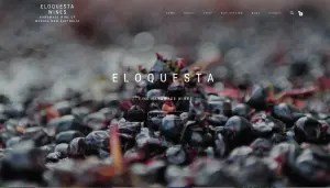 Eloquesta Wines - brand new website, July 2017