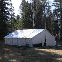 Canvas Wall Tent - Winter Tents - Davis Tent & Awning