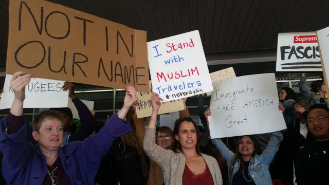 Protesters Rally for Refugees Detained at JFK Airport After Trump Ban