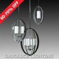 LODE Lighting MODA Large 4 Light Chrome Pendant from ...