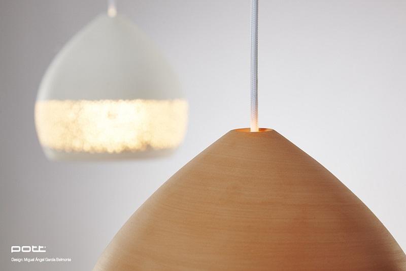 SpongeOh Terracota Hand Made Pendant Lights By POTT  Made