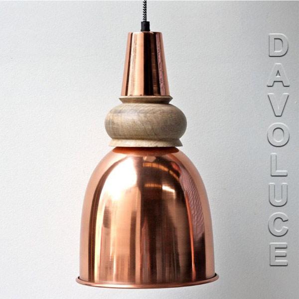 Solid Copper & Timber Pendant lights Australia