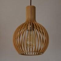 UP1001S-WD, BOLL Designer Small Timber Pendant, Davoluce ...