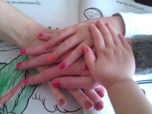 Free Day with my mom, and manicures all around from Lily.