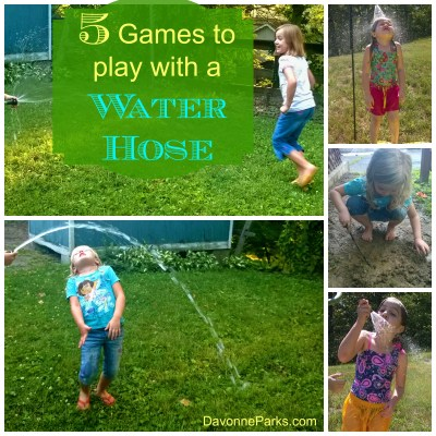 Five games to play with a water hose