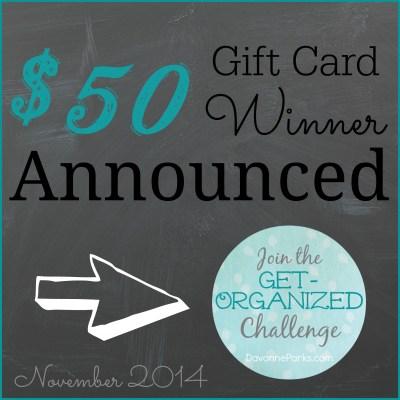 The $50 Amazon Gift Card Winner Is…