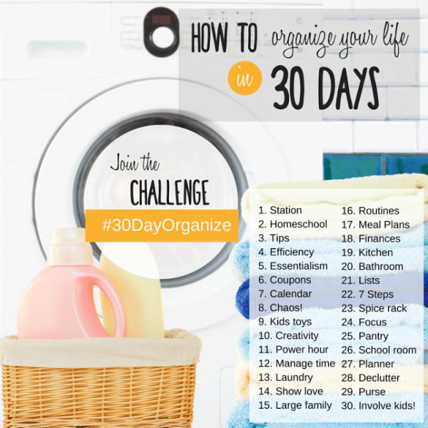 How to organize your life in 30 days- Instagram