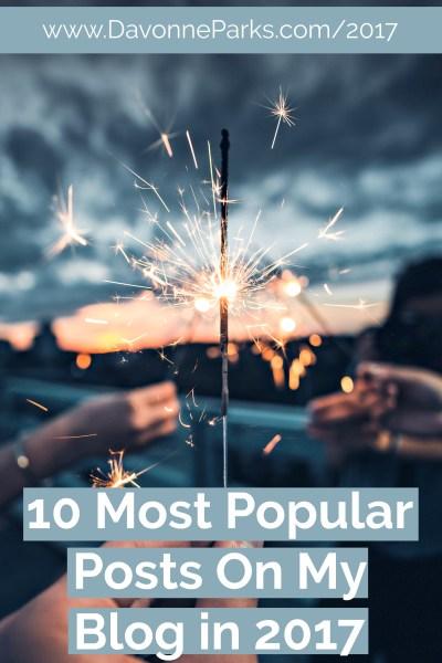 Top Ten Most Popular Posts on My Blog in 2017!