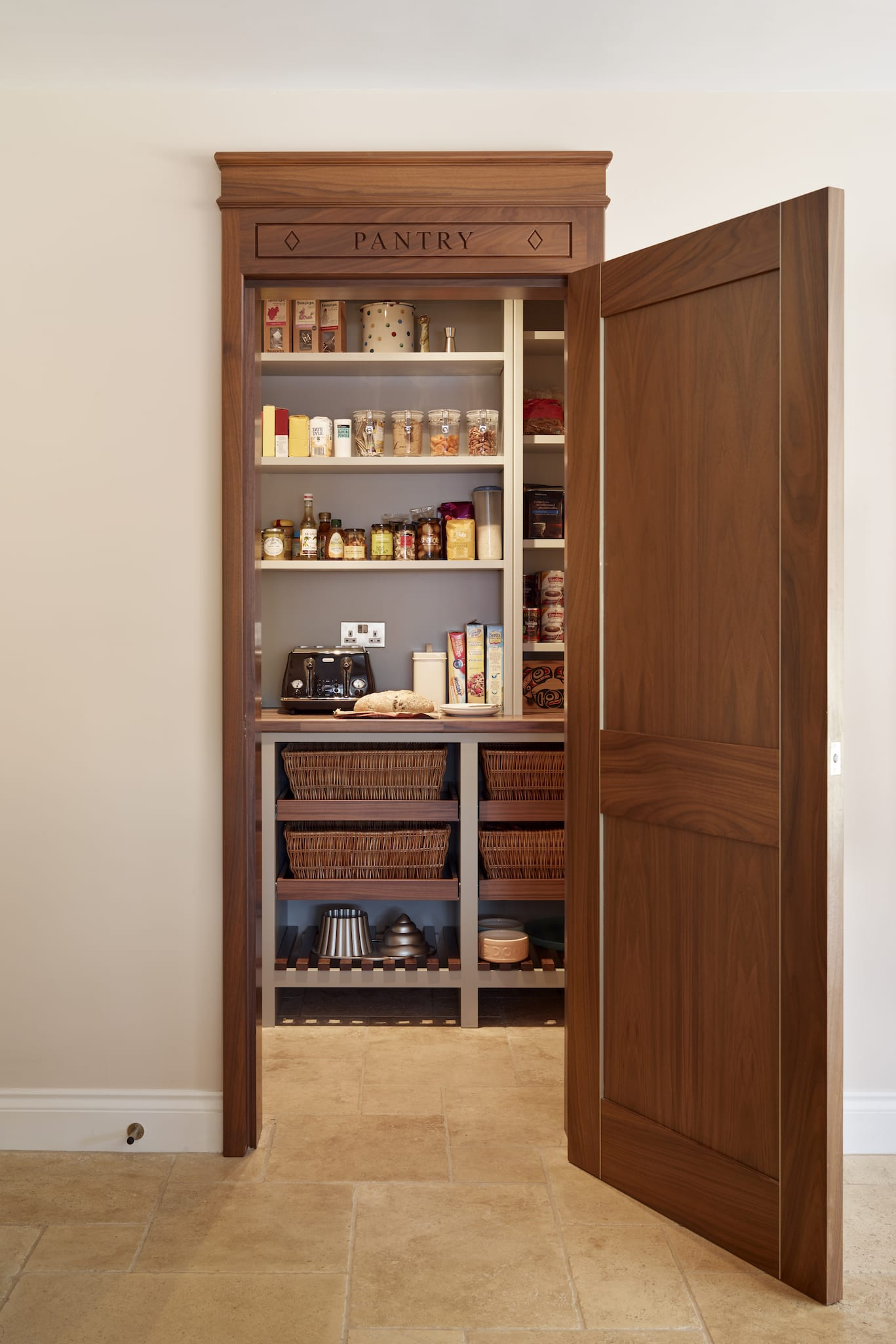 kitchen cabinets pantry scratch dent appliances storage the beauty of a or larder classic look this makes it popular choice that blends into shaker style seamlessly bespoke and creative