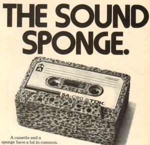 "TDK cassette ad ""The Sound Sponge"""