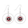 Georgia Bulldogs Love Script Red Heart Silver Necklace