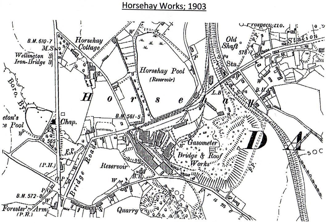 Map of Horsehay Works : Dawley Heritage