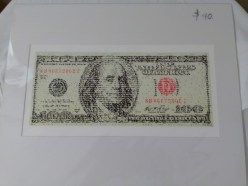 Hundred dollar bill print by David Hollier