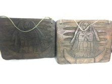 Set of 2 carved Guatemalan wallhangings