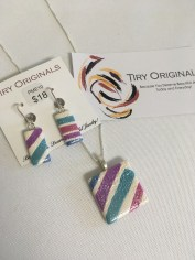 Ceramic necklace & earrings by Patti Tiry