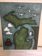 Michigan print by Linda Chamberlain