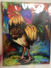 Rooster giclee print by Maria Reyes-Jones