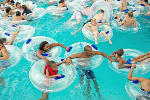Family of 4 entry to Rolling Hills Water Park from Washtenaw County Parks and Rec
