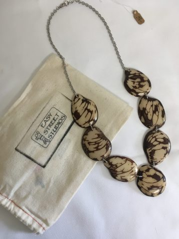 Tagua nut necklace by Jane and Michael Lewis