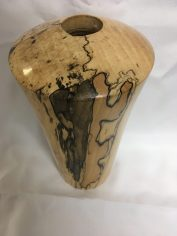 Hand-turned spalted maple vase by Russ Clinard