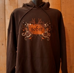 sober pullover hooded sweatshirt