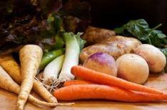 In season stew veggie basket by Kirk Jones