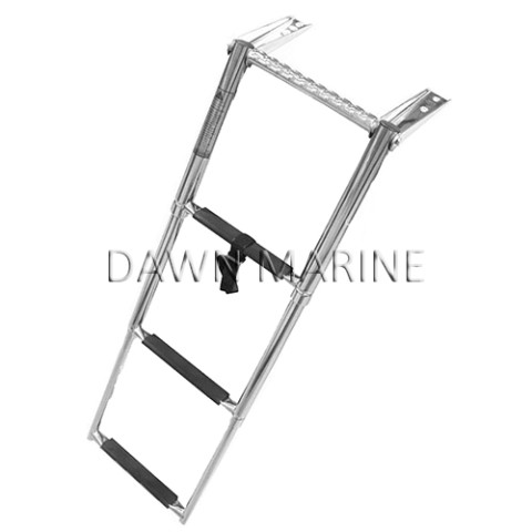 Stainless Steel 3-Step Telescoping Ladder With Handle