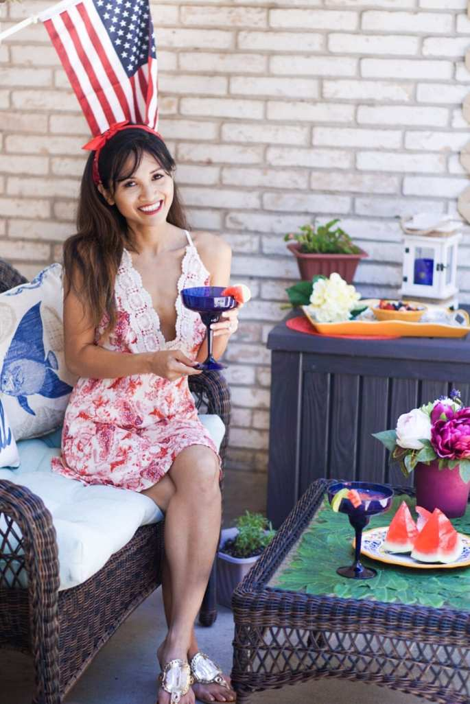 5 Tips to Get Your Patio Block Party Ready for Summer with Pier 1 Imports, 4th of july outfit, memorial day outfit, summer block party outfit, how to throw a summer block party