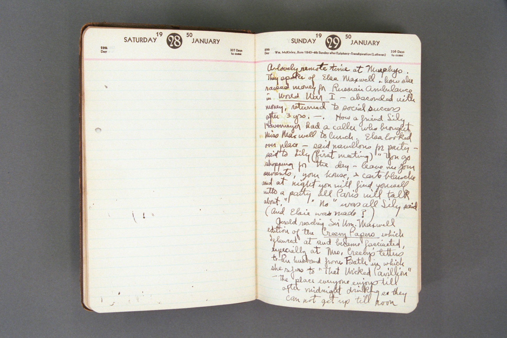 1950 diary excerpt a