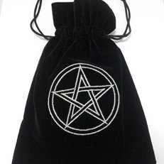 Pentacle Luxury Tarot Bag Embroidered Velvet 180 X 130mm